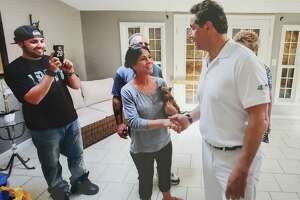 Sherry Vill, 55, said Gov. Andrew M. Cuomo kissed her on the cheek more than once without her consent while visiting Vill's residence in 2017 in Greece, N.Y. The governor was there with a team to view flooding damage along Lake Ontario and Vill said he later wrote her a personal letter and also invited her to an event – without mentioning her husband or family.