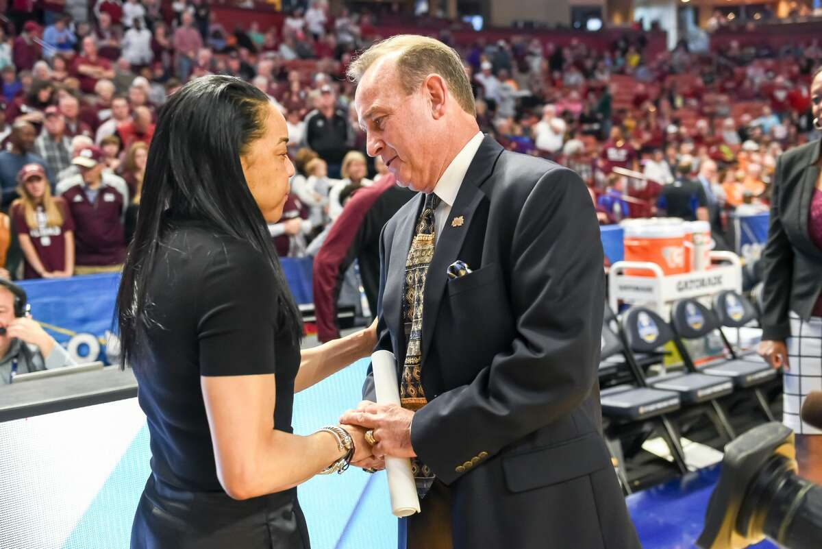 Dawn Staley and Vic Schaefer will resume their coaching rivalry Tuesday night when South Carolina and Texas play with a trip to the Final Four on the line.