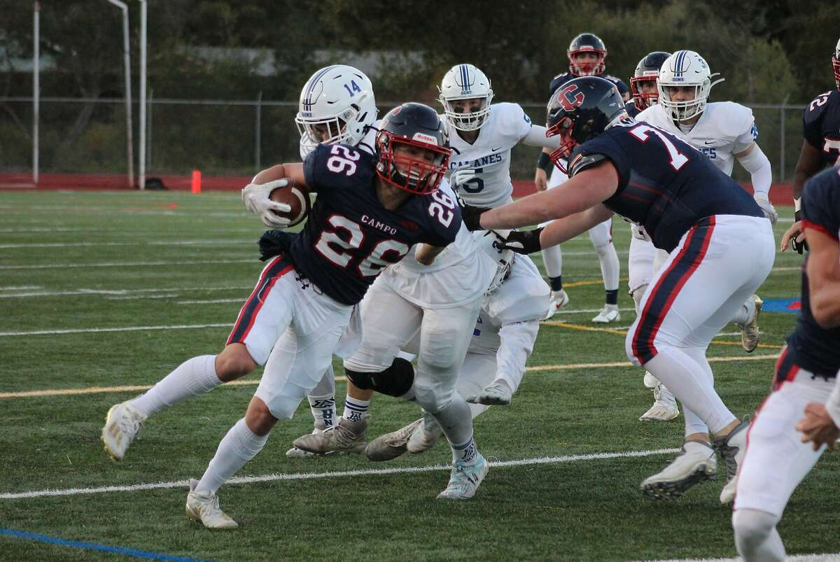 Campolindo running back Dillan Thomas rushed for 110 yards and two touchdowns in 28-13 win over Acalanes on Friday.