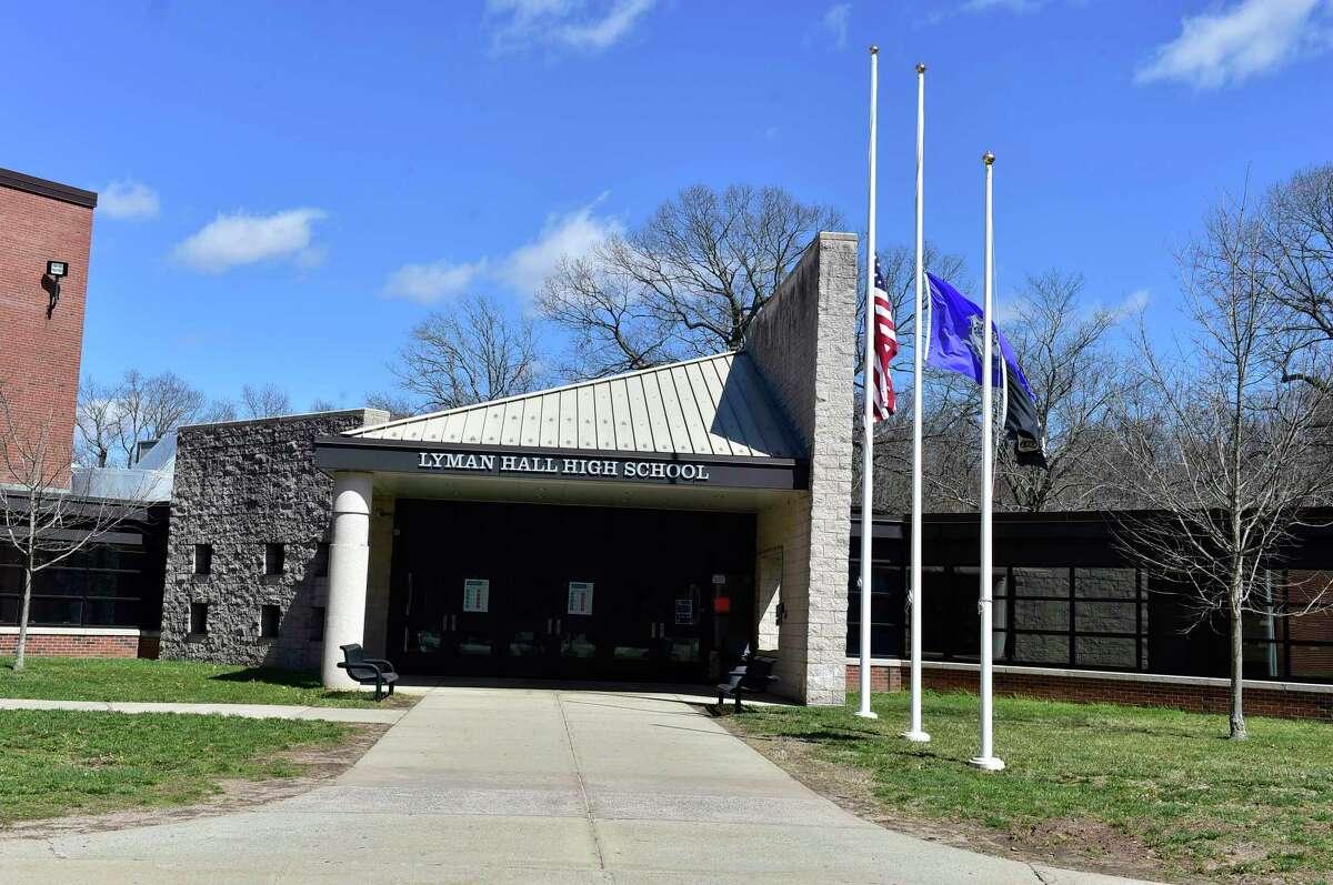 Lyman Hall High School in Wallingford, March 29, 2021.