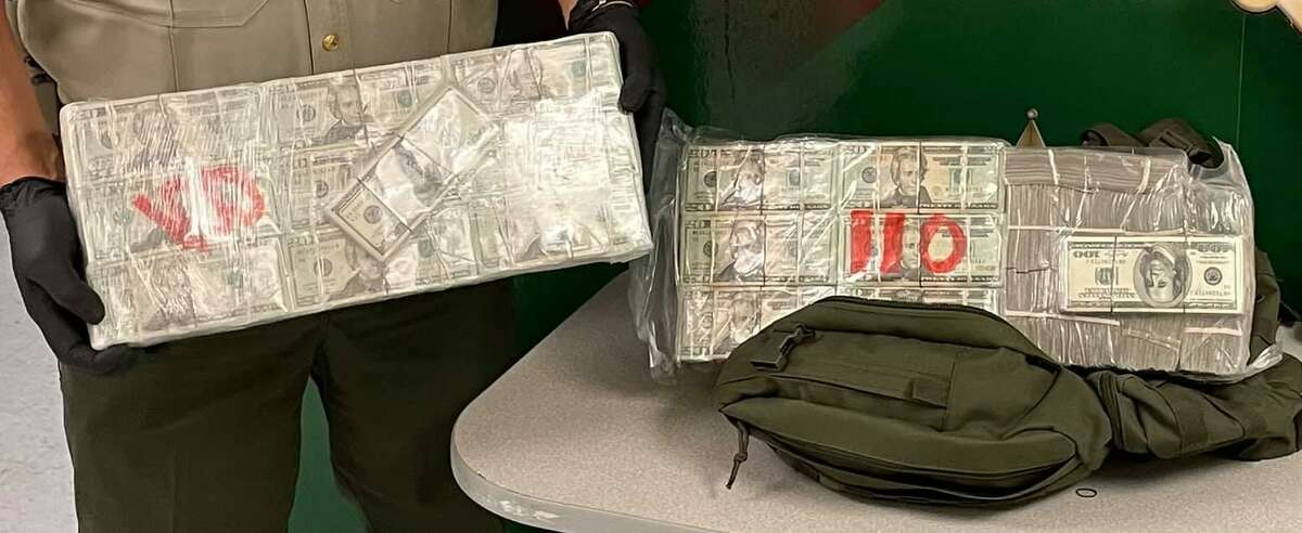 A traffic stop reported on Saturday north of Laredo yielded more than $200,000, according to the Webb County Sheriff's Office. A man was detained and released pending further investigation.