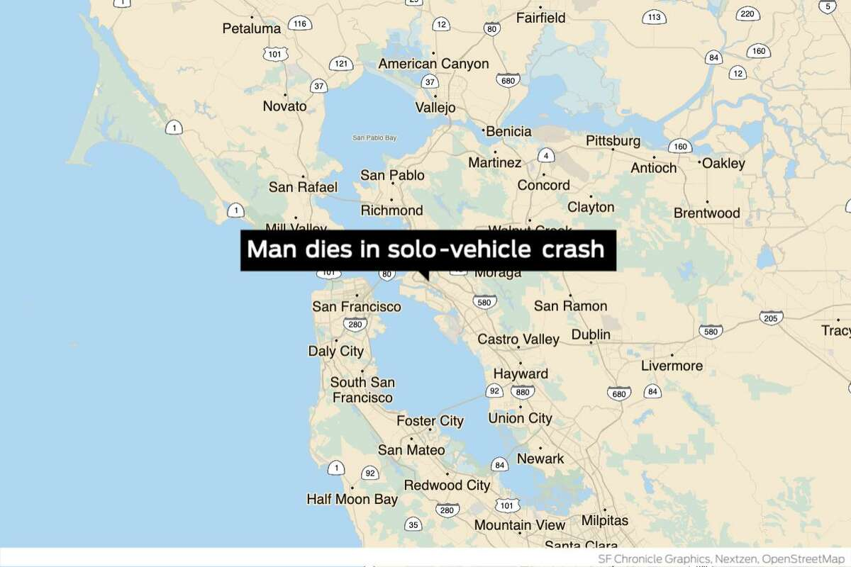 A 32-year-old man died in Oakland early Sunday after crashing his car into a parked trailer officials said. Police responded to reports of a solo vehicle crash at the intersection of Fifth and Market streets shortly before 5 a.m. Sunday.