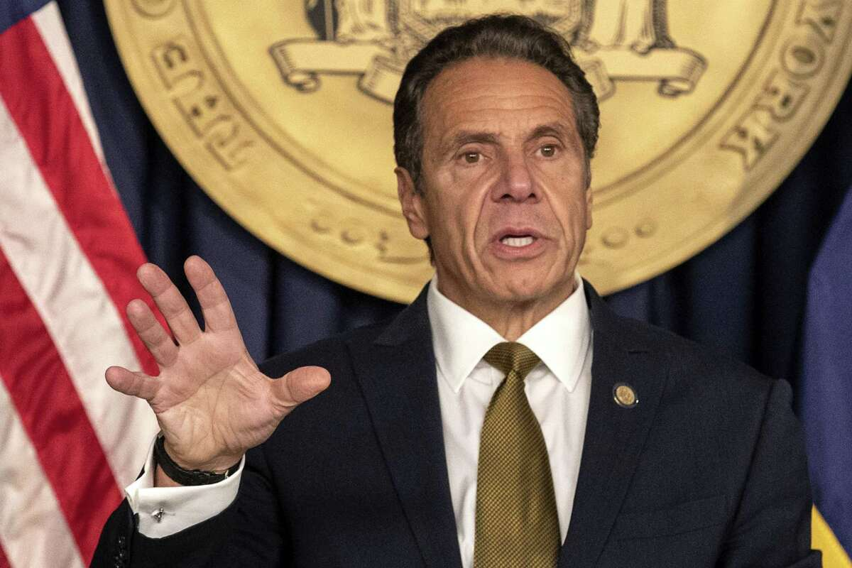 New York Gov. Andrew Cuomo, a Democrat, speaks during a news conference in October 2020.