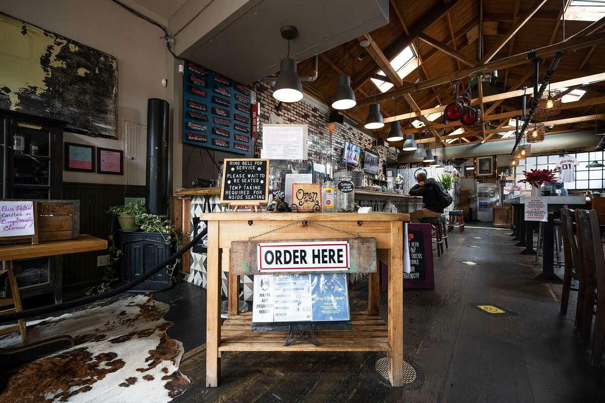 The entry of Brickhouse Cafe & Bar.