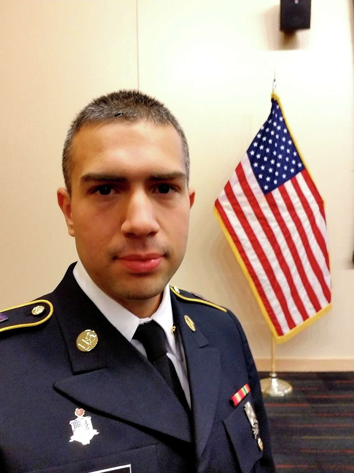 J.D. Ospina, who was medically discharged from the Army, is running for the 145th House District.