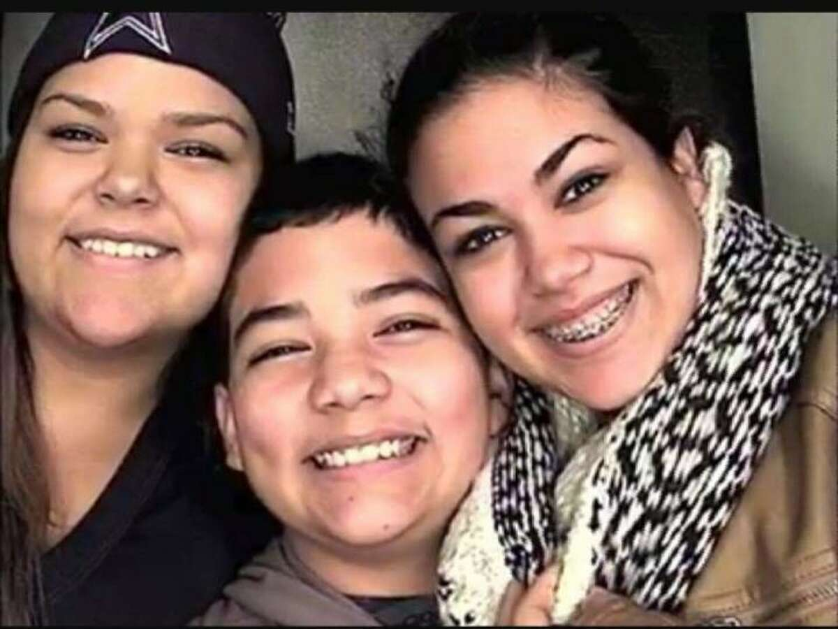 Family photo of Christopher (Chris) Jake Stone (center) with his sisters, Mercedez (left) and Angelica. He was killed in the attack at Santa Fe High School on May 18, 2018. Nearly three years later, he is being honored with the nation's highest recognition for a youth, the Congressional Medal of Honor Young Hero Award
