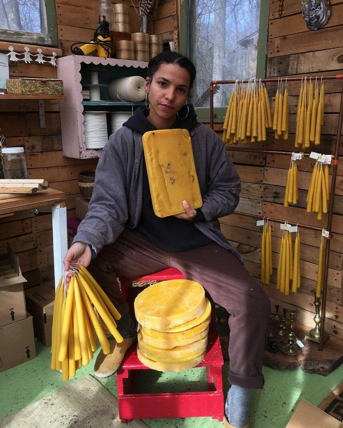 Hudson Valley maker Alysia Mazzella is committed to sustainably sourcing beeswax from New York state farms only - even if that limits her access to beeswax and, as a result, how many candles she can produce.