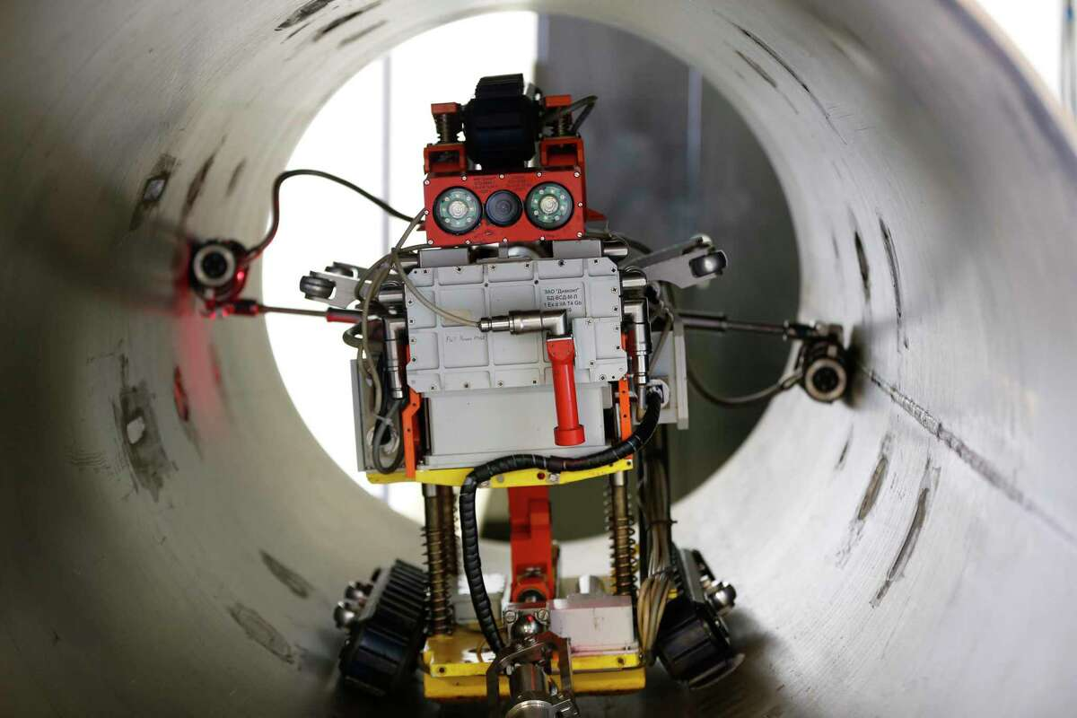 Robots are already being used to inspect oil and natural gas pipelines.