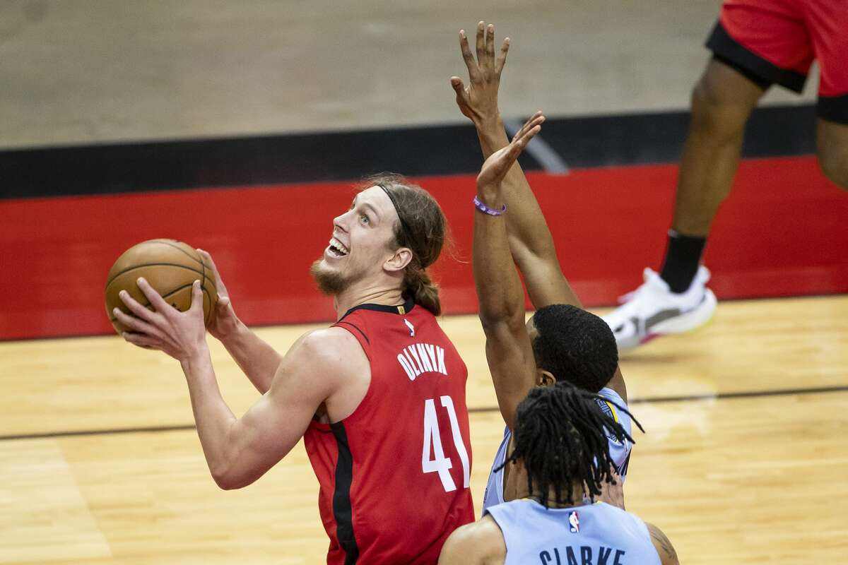 Since arriving in a trade with Miami, Kelly Olynyk has scored at least 20 points in three of his six games with the Rockets.