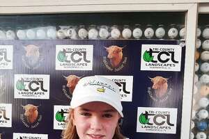 Brayden Dock, a 14-year-old from Queensbury, will compete in the Drive, Chip and Putt national championship Sunday, April 4, 2021, at the Augusta National Golf Club. (Courtesy of Jeffrey Dock)