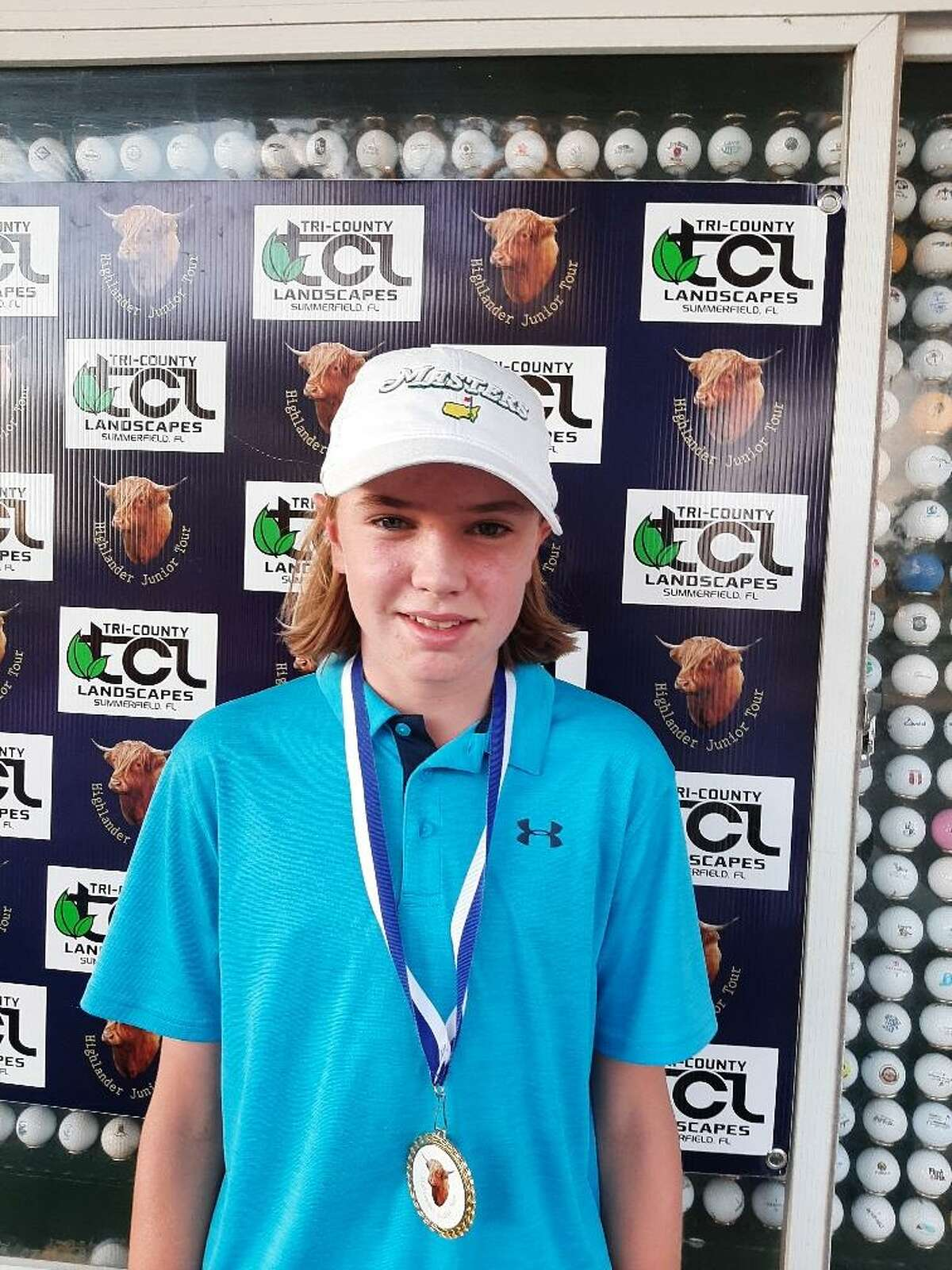 Brayden Dock, a 14-year-old from Queensbury, at a golf tournament in February in Florida.Dock will compete in the Drive, Chip and Putt national championship Sunday, April 4, 2021, at the Augusta National Golf Club. (Courtesy of Jeffrey Dock)