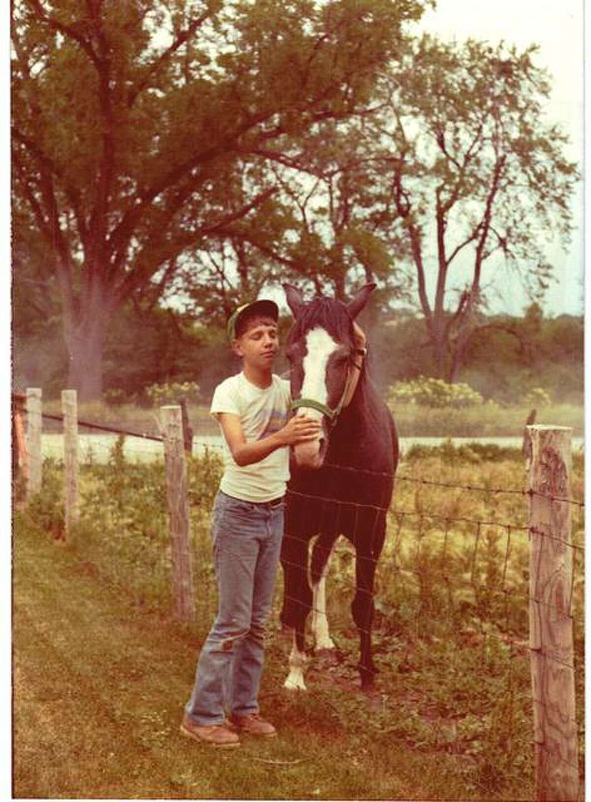 A young Scott Reeder is pictured with his horse, Ramona, named after the popular Beverly Cleary character.