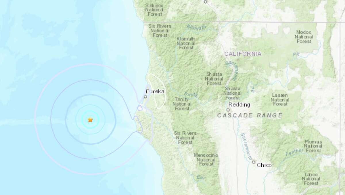 An earthquake struck off the Northern California coast Tuesday morning.