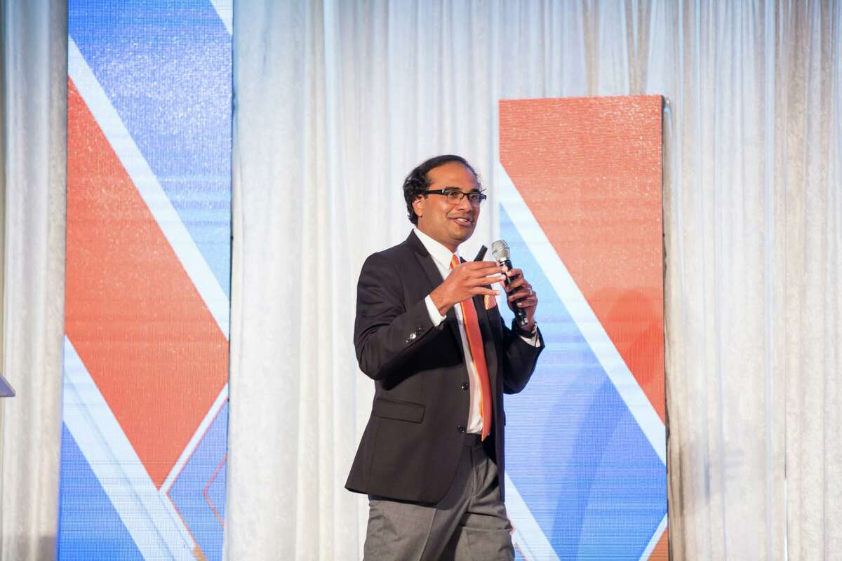 Sashi Narahari is the CEO of Houston-based HighRadius, which uses uses artificial intelligence to help large companies get paid faster. It received a $300 million investment last month, valuing the company at $3.1 billion>
