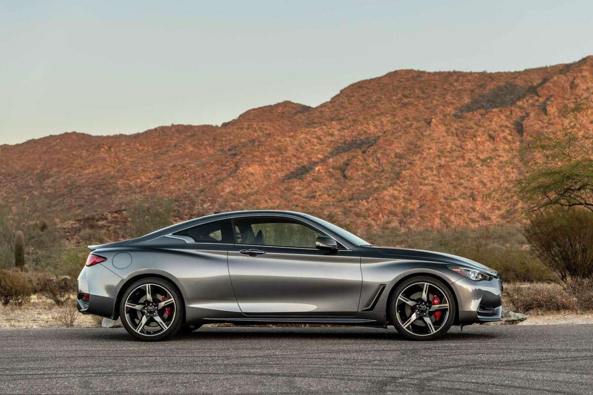 The 2021 Infiniti Q60 features include remote start, power moonroof, heated front seats and steering wheel, leather upholstery, intelligent cruise control, satellite radio, Apple CarPlay, Android Auto, wi-fi hotspot, and a full suite of safety warnings and interventions.