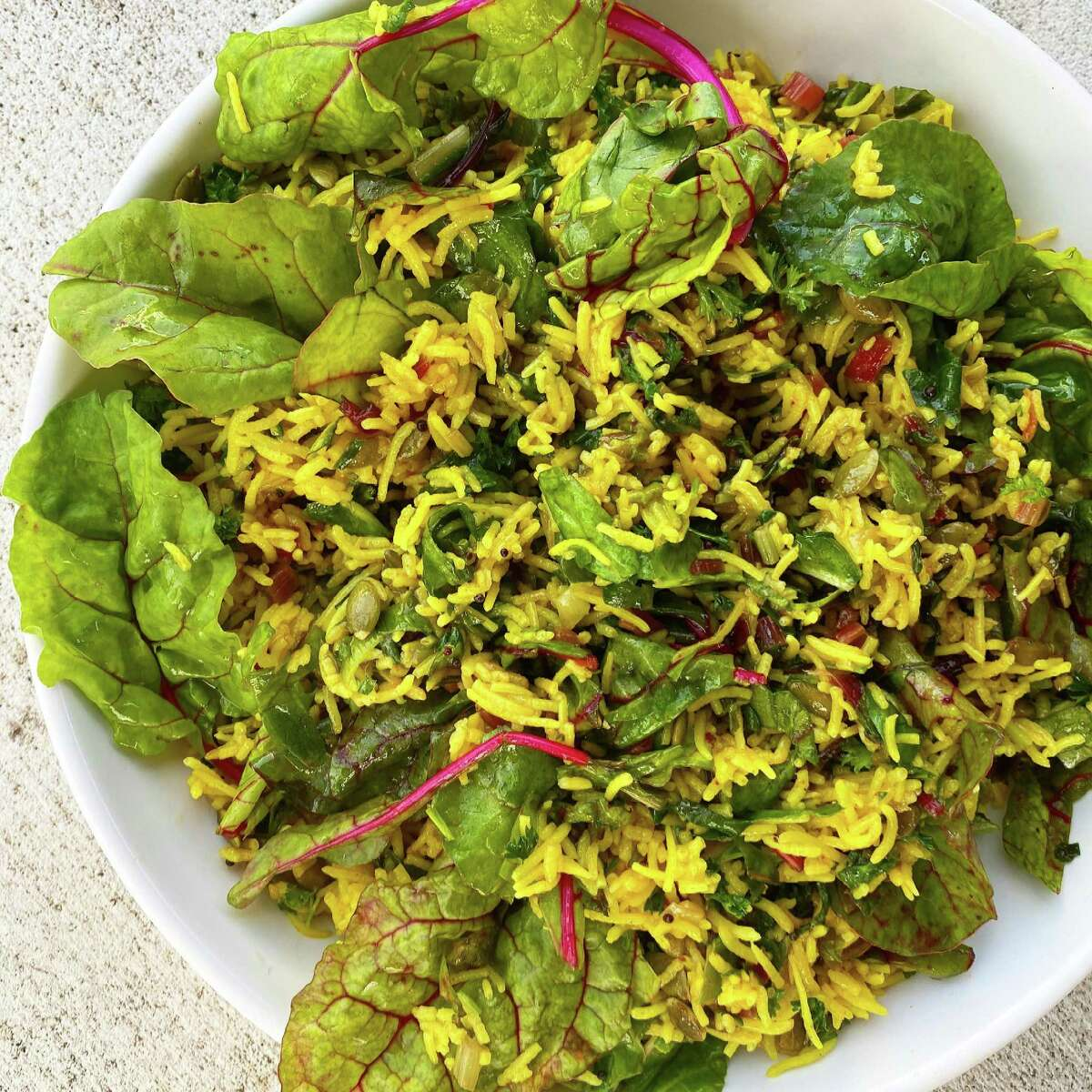 Swiss chard pilaf is a good way to incorporate chard in one's diet.