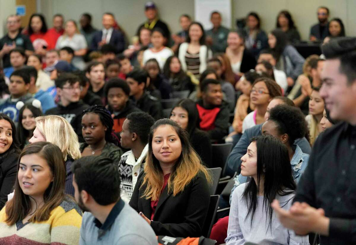 People attend the DREAM Summit held at the Hattie Mae White Educational Support Center, 4400 W. 18th St., Saturday, Dec. 7, 2019, in Houston.