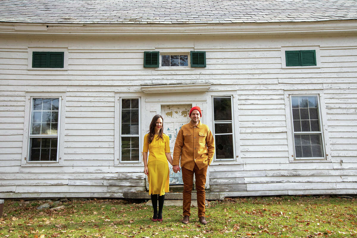"""Ethan and Elizabeth Finkelstein, founders of Cheap Old Houses, are embarking on a renovation of their own old home: a 1700s farmhouse located in between the Adirondacks and Vermont's Green Mountains. """"Once we fix this house - and it requires so much fixing - I can't imagine giving it up. It feels like we've found our piece of paradise,"""" says Elizabeth."""