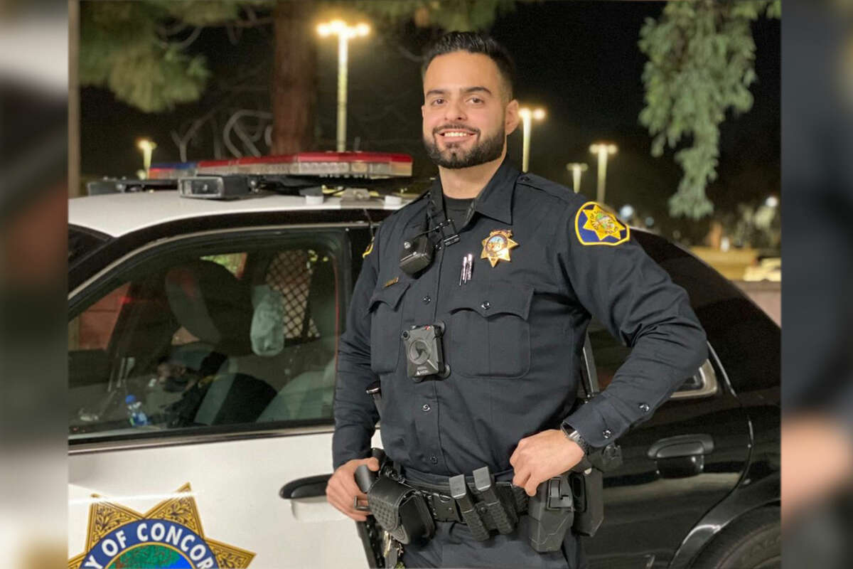 Officer Aaron Khamosh is pictured in this image courtesy of the Concord Police Department.