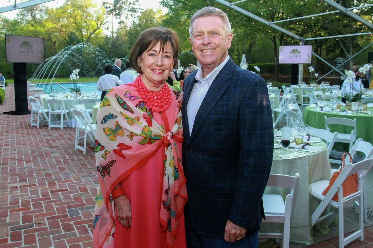 Cathy and Joe Cleary at the Root Ball, hosted by Trees for Houston on March 25, 2021.