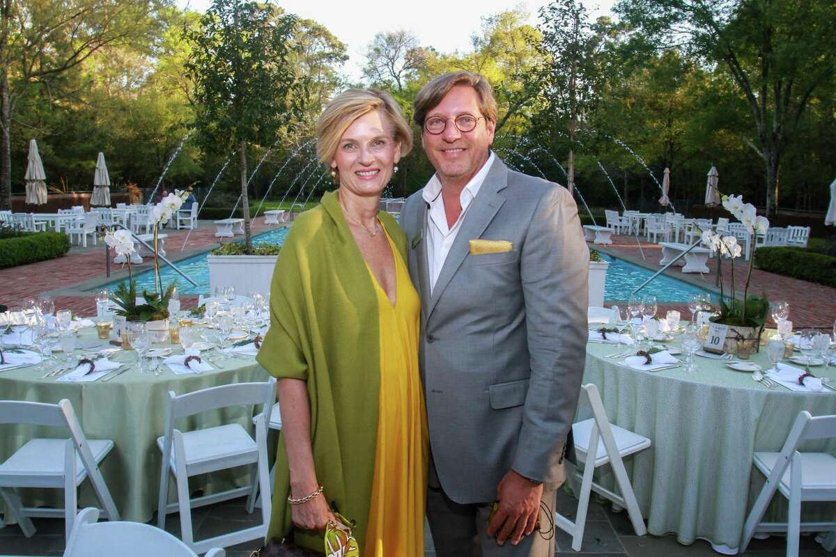 Christiane and Kristopher Stuart at the Root Ball, hosted by Trees for Houston on March 25, 2021.