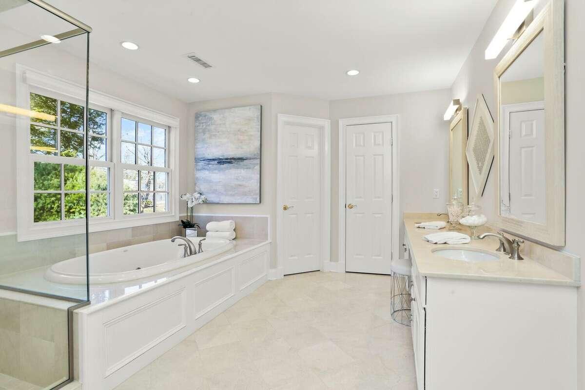 Master bath Formal dining room at 43 Gorham Avenue, Westport.