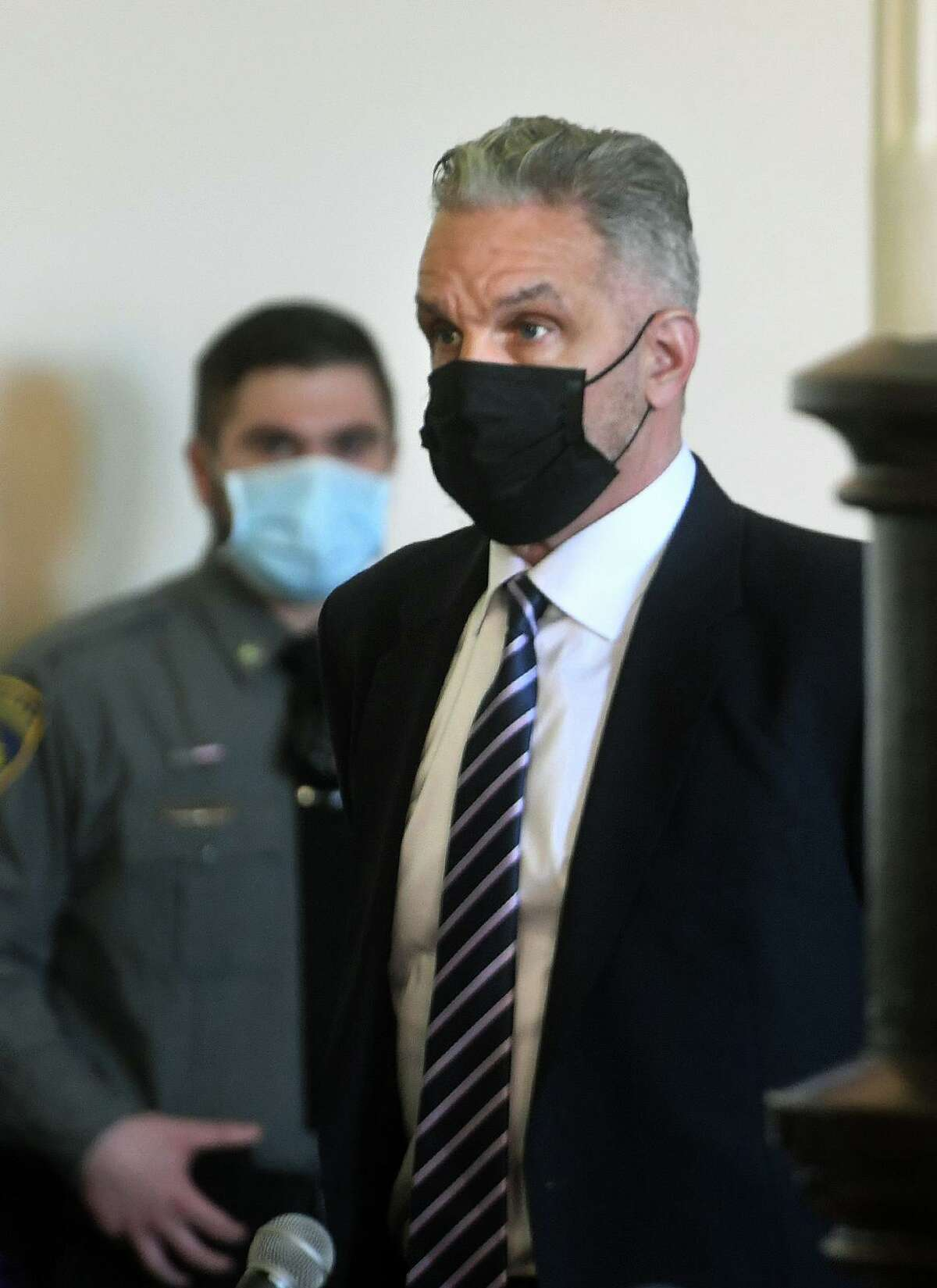 John Vazzano, of Trumbull, is arraigned in state Superior Court in Bridgeport on Feb. 25.