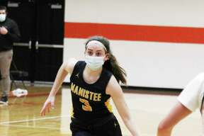 Manistee freshman Libby McCarthy was named second team all-conference in the Lakes 8 this season. (News Advocate file photo)