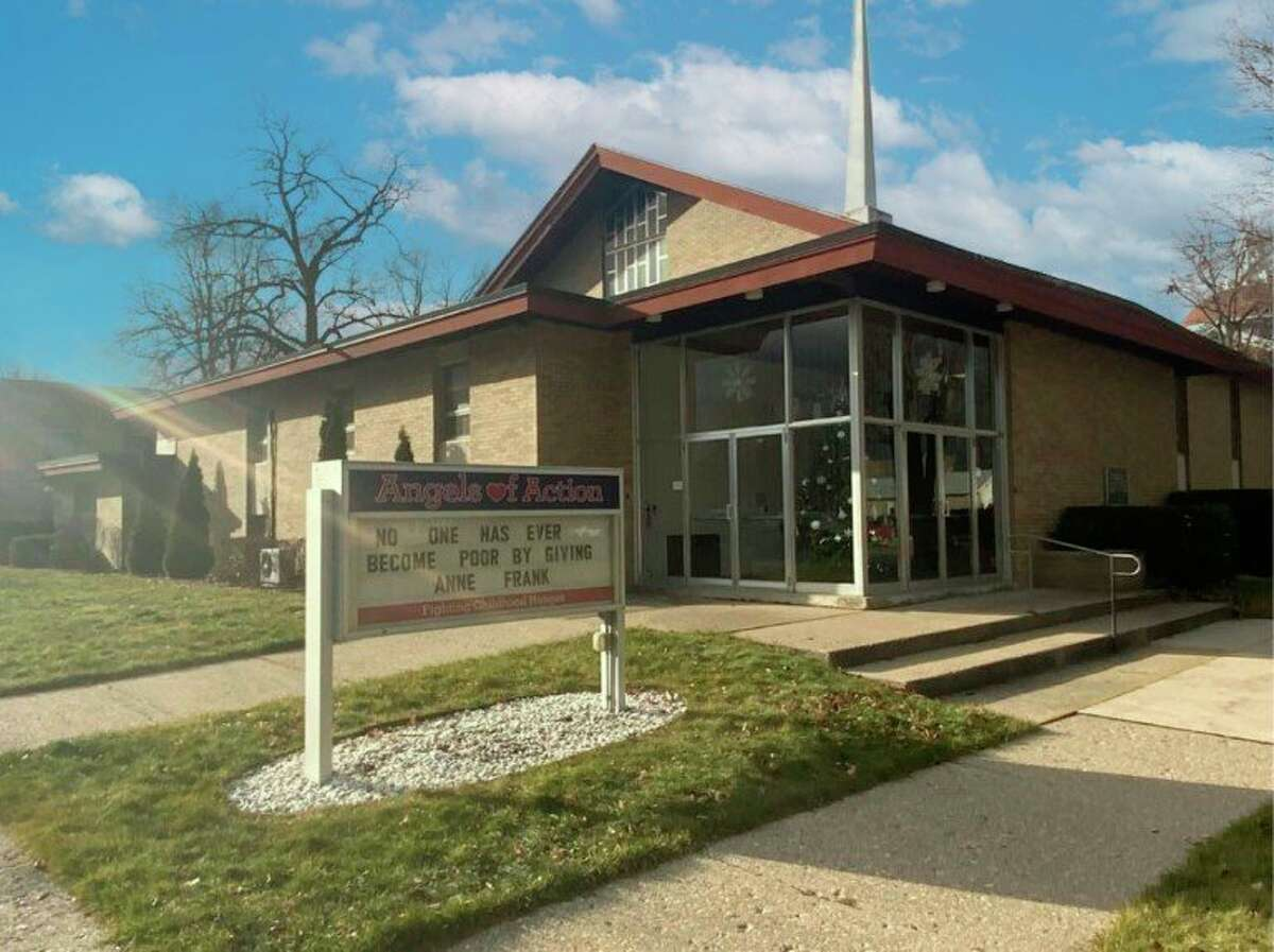 To commemorate 10 years of serving the community, Angels of Action will be creating a community rock garden at its entrance. The building is located at the corner of Elm Street and Stewart Avenue in Big Rapids. (Courtesy photo)
