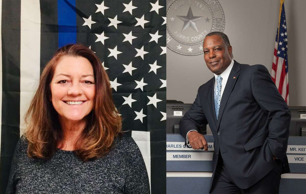 Linda Greenan (left) and Charles Cunningham (right) are running for Place 2 in the city of Humble May 1 election, with early voting starting April 19.