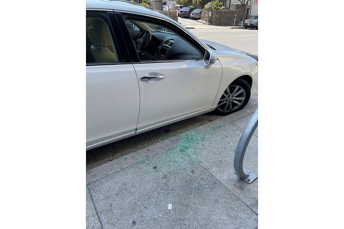 A woman was robbed in Japantown while sitting in her car with the doors locked on March 29, 2021.
