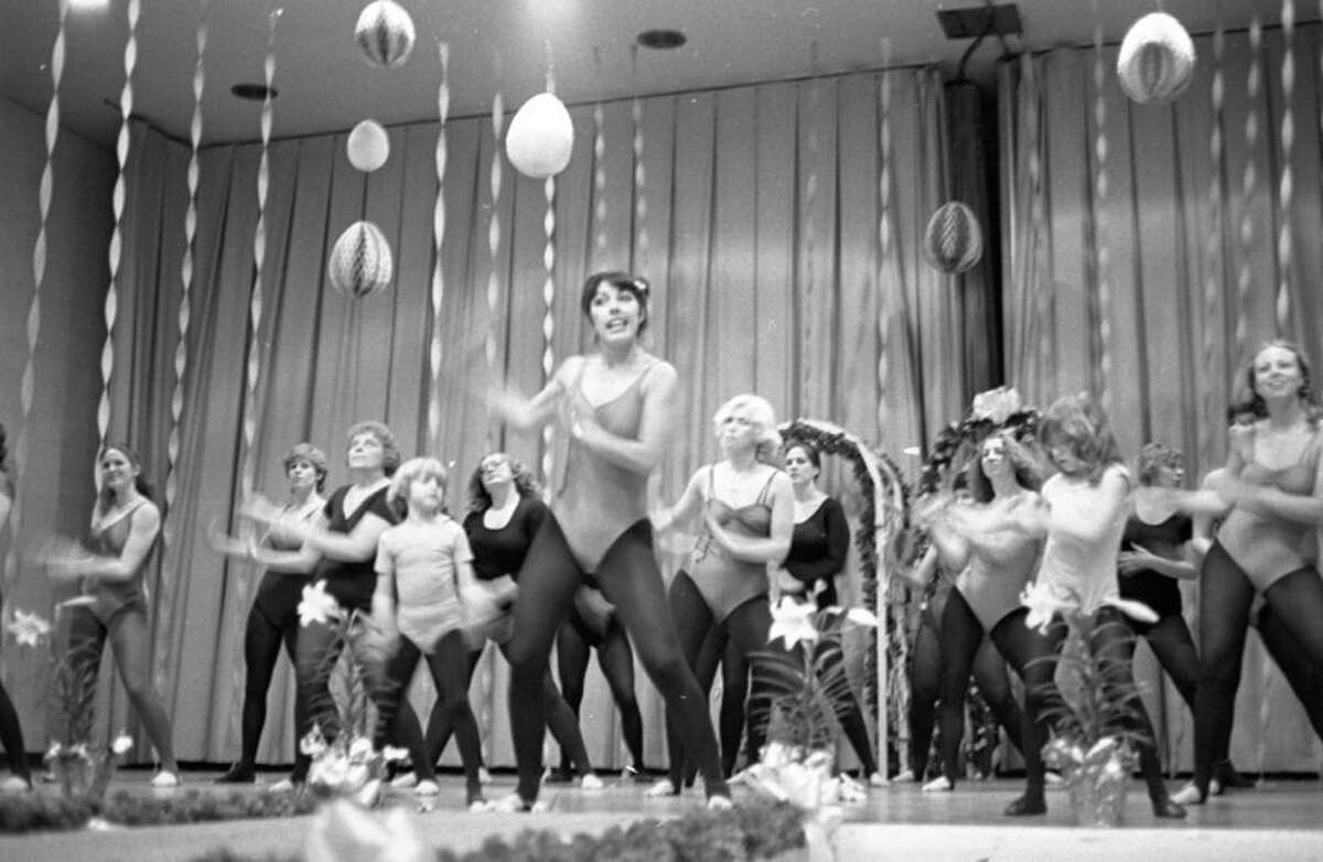 Toes were tapping and bodies swaying as Terry Bowling and her jazzercise class put on a spirited demonstration during last night's fashion show at the Armory. The photo was published in the News Advocate onMarch 31,1981. (Manistee County Historical Museum photo)