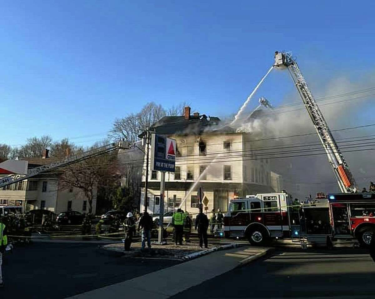 First responders were dispatched to a large fire at a Union Street residence around 5 p.m. Monday, March 29, 2021.