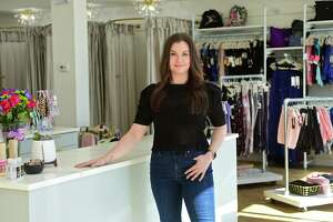 Kristin Ruggieri, owner of Attitude Dance, her full service dance retail store with a specialty in pointe shoe fittings, Tuesday, March 2, 2021, in Norwalk, Conn. Ruggieri's store has been in Norwalk since 2003 and moved her business to a bigger location on Westport Ave on Feb. 17. The opening of her new location was delayed by the city's permitting process which she said was overly confusing and ultimately hurt her business. She is still struggling with approval to put up a sign.