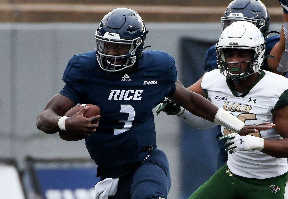 JoVoni Johnson, who started four of Rice's five games last season, is one of four quarterbacks competing for the Owls' starting job.