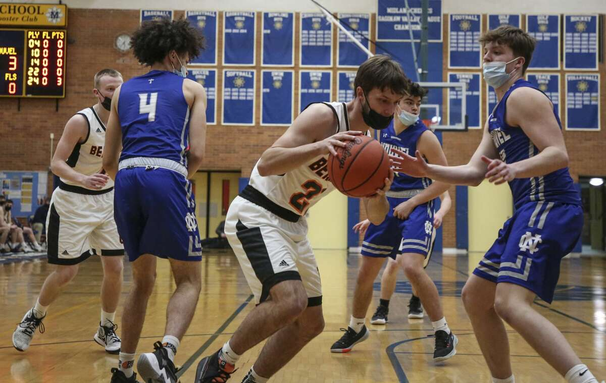 Saginaw Nouvel ended the Ubly boys basketball team's quest for a state title on Tuesday night as the Panthers topped the Bearcats, 55-46, in the regional semifinals at Midland High School.