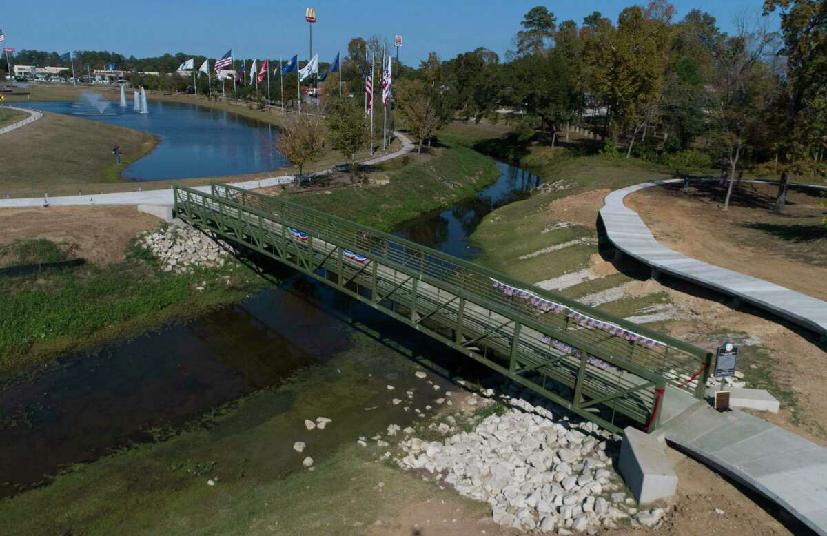 The newly completed south bridge at the Montgomery County Veterans Memorial Park was dedicated in honor of Sgt. Luther Dorsey on Veterans Day, Wednesday, Nov. 11, 2020, in Conroe. Dorsey, who served in the 10th Cavalry of the United States Army from 1873 to 1878, is the only known Buffalo Solider in Montgomery County.