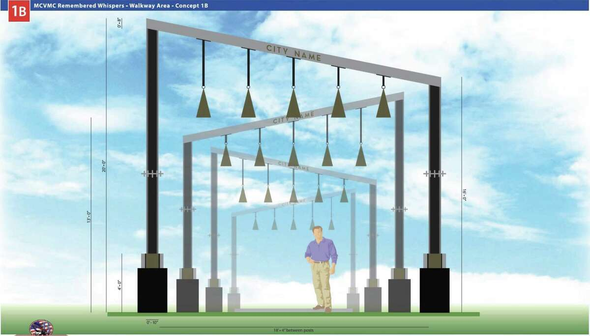 The Remembered Whispers Monument at the Montgomery County Veterans Memorial Park in Conroe will honor women in military service during World War II. It will be located on the south side of the park.