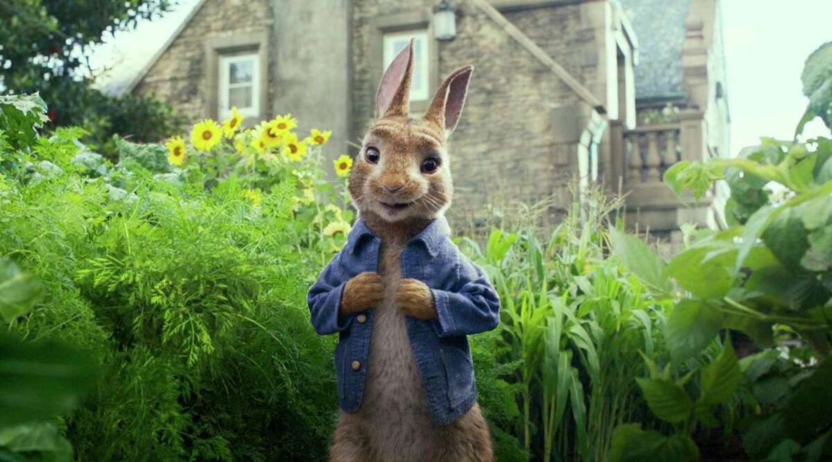 """James Corden voices a perfectly pesky """"Peter Rabbit."""""""