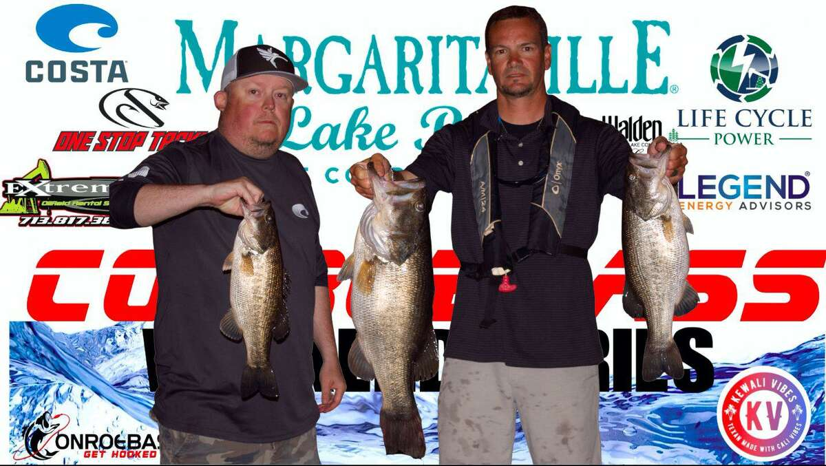 Chris Bohac and Don May won the CONROEBASS Tuesday Tournament with a total weight of 17.02 pounds.