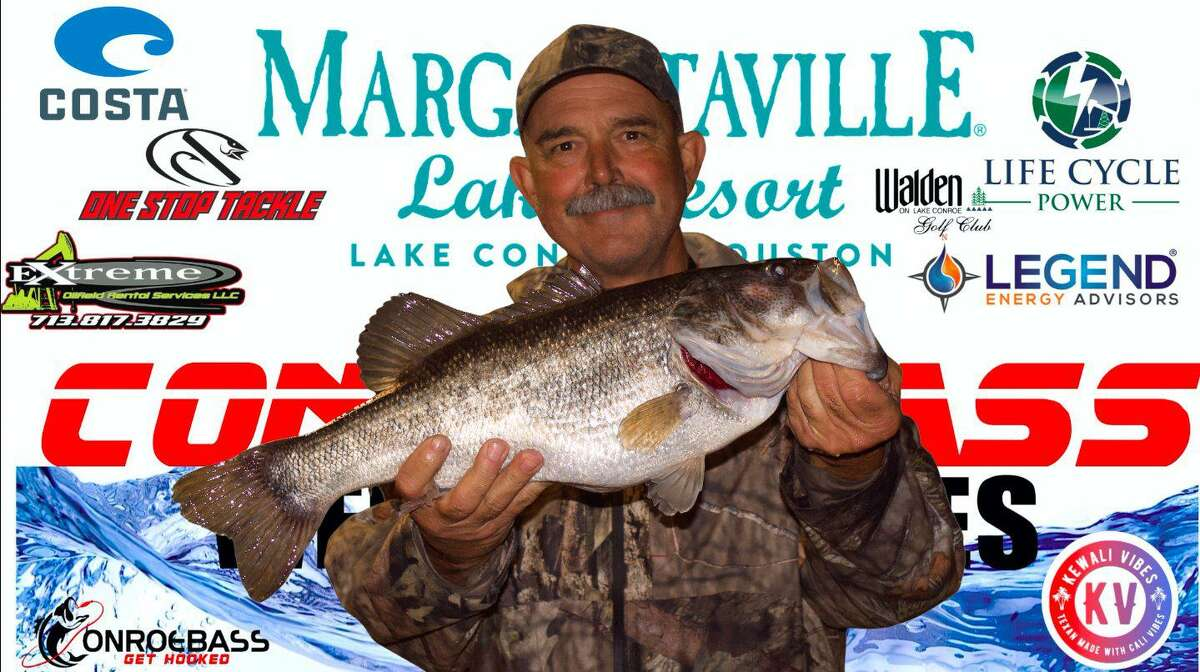 Mickey Mueller came in first place in the CONROEBASS Thursday Big Bass Tournament with a weight of 7.18 pounds.