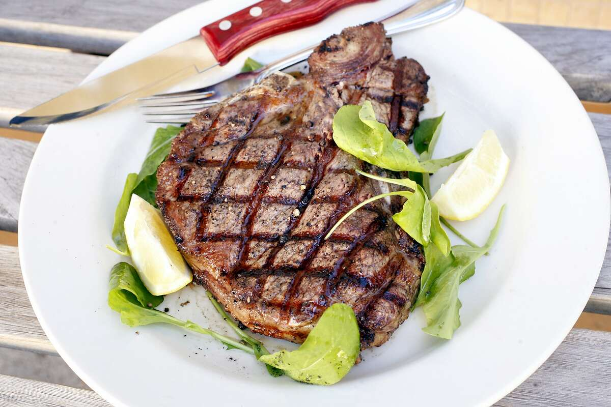 Bistecca alla Fiorentina (grilled t bone steak) at Corso, a restaurant at 1788 Shattuck Ave. in Berkeley, Calif. on Thursday, August 20, 2008.