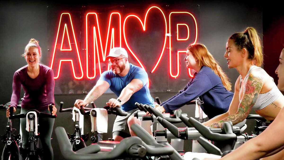 With a speakeasy vibe, Amor Cycling Studio is in Alamo City CrossFit on San Pedro.