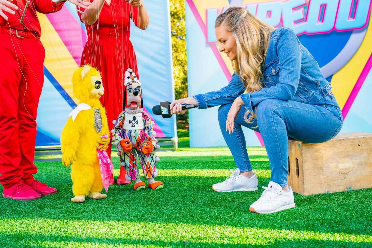 """Model Camille Kostek hosts the TBS reboot of """"Wipeout"""" premiering April 1, 2021."""