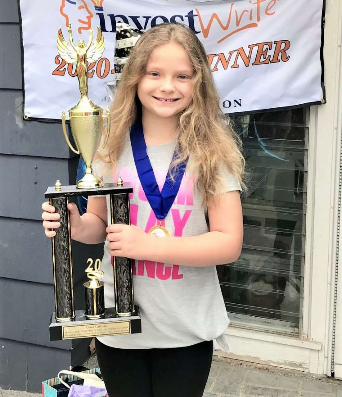 Fourth-grader Clara Carlson, a student at Macdonough Elementary School in Middletown, won the Connecticut division of the SIFMA Foundation's fall 2020 National InvestWrite Competition. She placed ninth in the nation among 452 elementary school candidates.