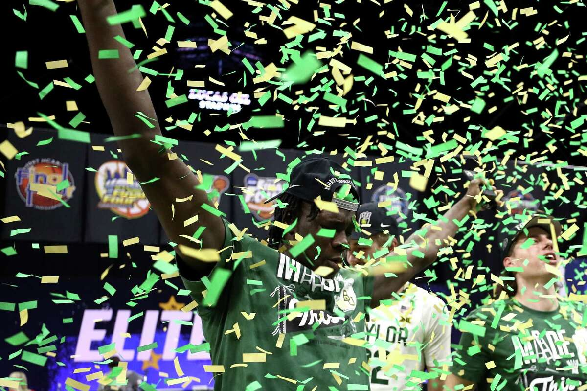 The green and gold confetti also poured down after Baylor beat Arkansas to reach the Final Four.