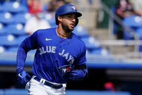 Blue Jays slugger George Springer will start the season on the IL with an oblique strain.