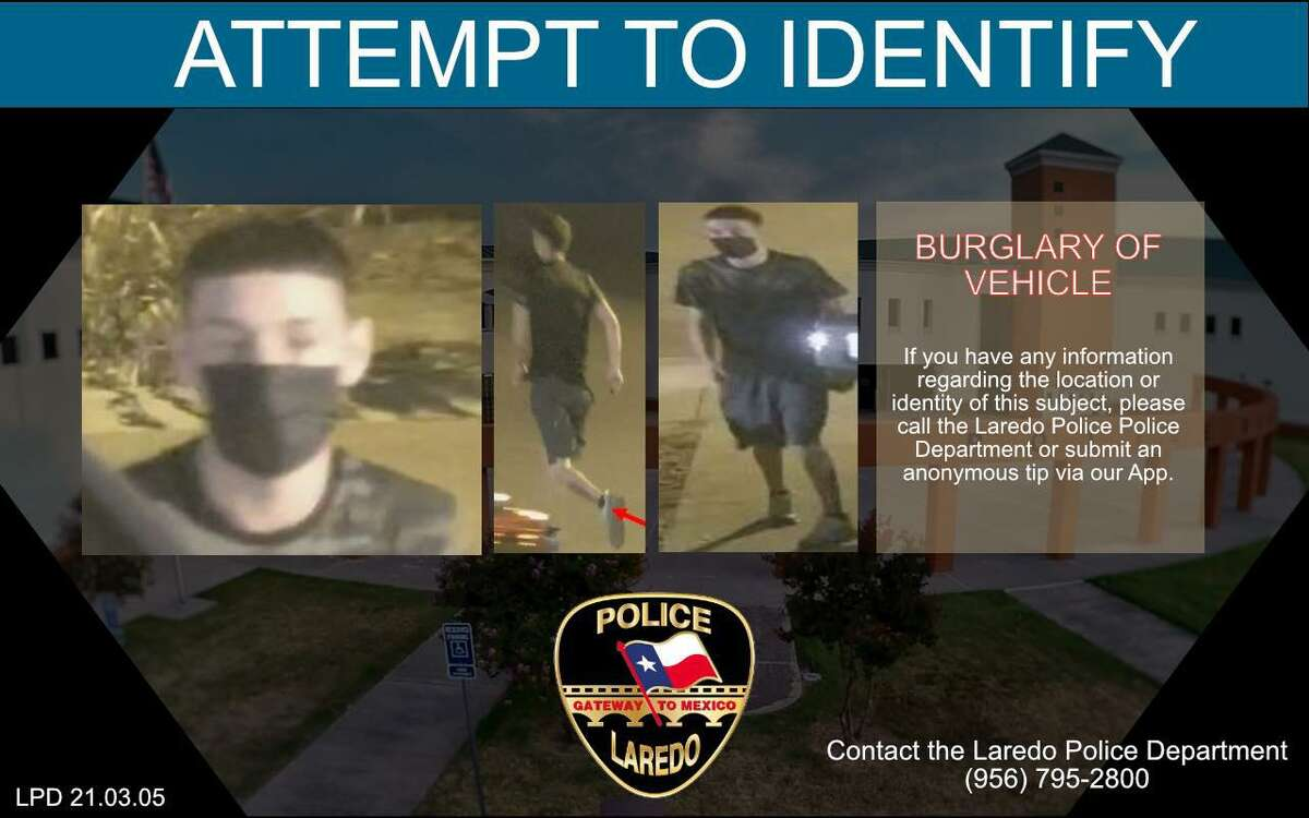 Laredo police said they need to locate this man in relation to an auto-burglary.