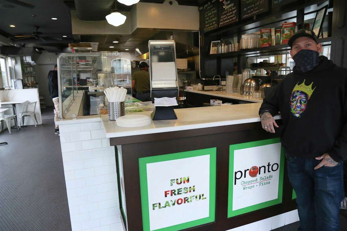 Dominick Spadaro, manager of Pronto in Fairfield, wishes he had more outdoor seating, as most customers no longer favor intimate indoor dining.