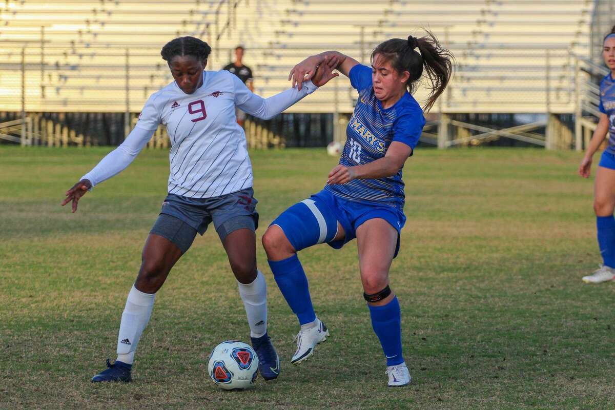 TAMIU's Tritch Ann Grant had two shots on goal Wednesday as the Dustdevils fell 5-0 against No. 10 Angelo State at home in the regular-season finale.